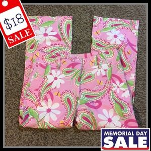 Lilly Pulitzer Floral Paisley Print Trouser